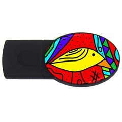 Yellow bird USB Flash Drive Oval (4 GB)