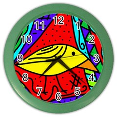 Yellow bird Color Wall Clocks