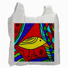 Yellow bird Recycle Bag (Two Side)