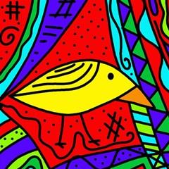 Yellow bird Magic Photo Cubes