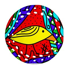 Yellow bird Ornament (Round Filigree)