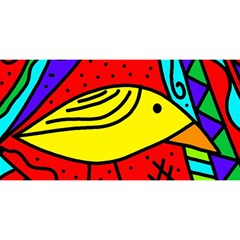 Yellow bird YOU ARE INVITED 3D Greeting Card (8x4)
