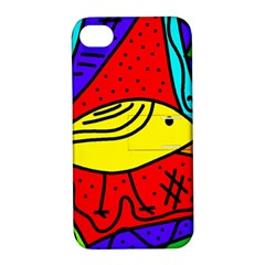 Yellow bird Apple iPhone 4/4S Hardshell Case with Stand