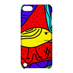 Yellow bird Apple iPod Touch 5 Hardshell Case with Stand