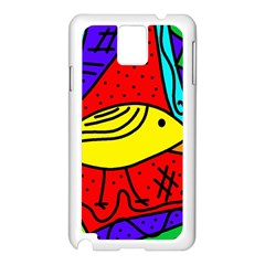 Yellow bird Samsung Galaxy Note 3 N9005 Case (White)