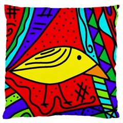 Yellow bird Standard Flano Cushion Case (Two Sides)