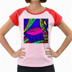 Pink bird Women s Cap Sleeve T-Shirt