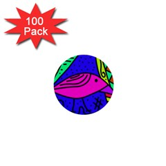 Pink bird 1  Mini Buttons (100 pack)
