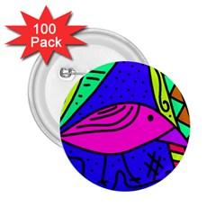 Pink bird 2.25  Buttons (100 pack)