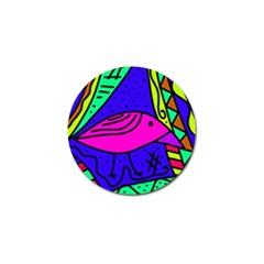 Pink bird Golf Ball Marker