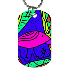 Pink bird Dog Tag (Two Sides)