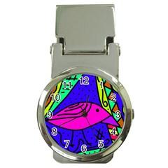 Pink bird Money Clip Watches