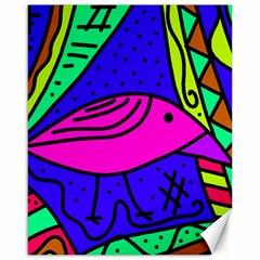 Pink bird Canvas 16  x 20