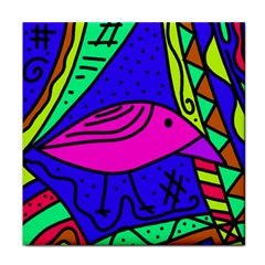 Pink bird Face Towel