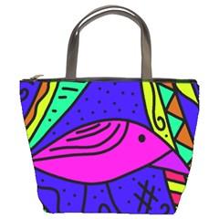 Pink bird Bucket Bags