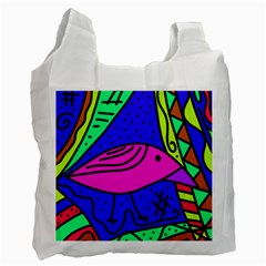 Pink bird Recycle Bag (One Side)