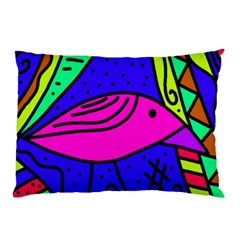 Pink bird Pillow Case (Two Sides)