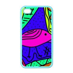 Pink bird Apple iPhone 4 Case (Color)