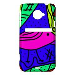 Pink bird HTC Evo 4G LTE Hardshell Case