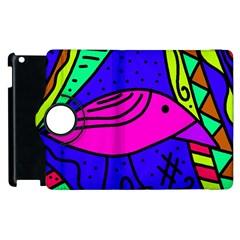 Pink bird Apple iPad 2 Flip 360 Case