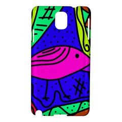 Pink bird Samsung Galaxy Note 3 N9005 Hardshell Case