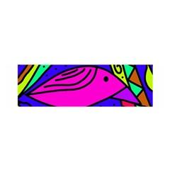 Pink bird Satin Scarf (Oblong)