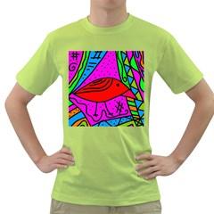 Red Bird Green T Shirt
