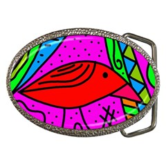 Red bird Belt Buckles