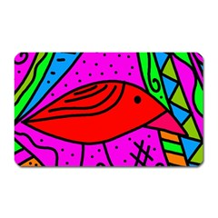 Red bird Magnet (Rectangular)