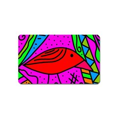 Red Bird Magnet (name Card)
