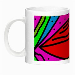 Red Bird Night Luminous Mugs