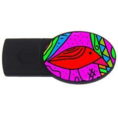 Red bird USB Flash Drive Oval (4 GB)