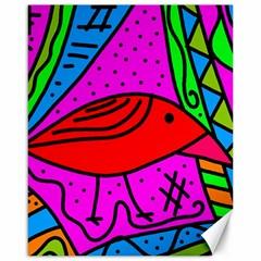 Red bird Canvas 16  x 20