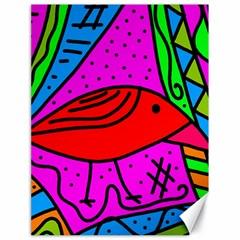 Red bird Canvas 18  x 24