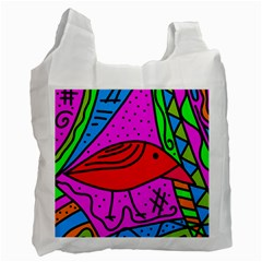 Red bird Recycle Bag (One Side)