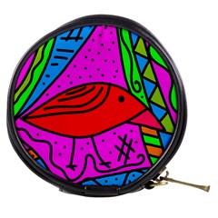 Red Bird Mini Makeup Bags