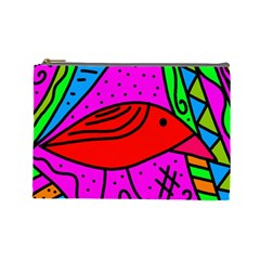 Red bird Cosmetic Bag (Large)