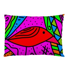 Red bird Pillow Case (Two Sides)