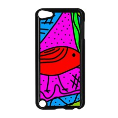 Red bird Apple iPod Touch 5 Case (Black)