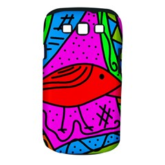 Red bird Samsung Galaxy S III Classic Hardshell Case (PC+Silicone)