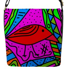 Red bird Flap Messenger Bag (S)