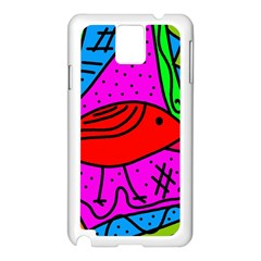 Red bird Samsung Galaxy Note 3 N9005 Case (White)