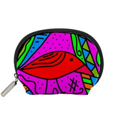 Red bird Accessory Pouches (Small)