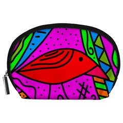 Red bird Accessory Pouches (Large)