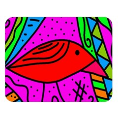 Red bird Double Sided Flano Blanket (Large)