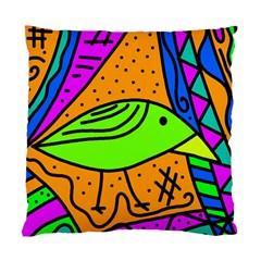 Green bird Standard Cushion Case (One Side)