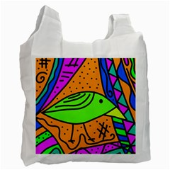 Green bird Recycle Bag (Two Side)