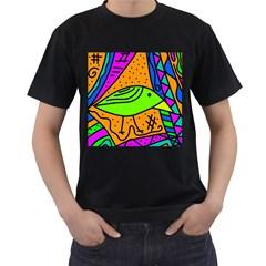 Green bird Men s T-Shirt (Black)