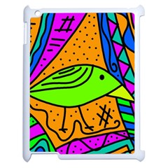 Green bird Apple iPad 2 Case (White)