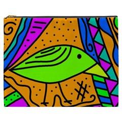 Green bird Cosmetic Bag (XXXL)